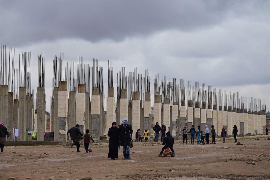 Il campo profughi di Jibrin ad Aleppo -