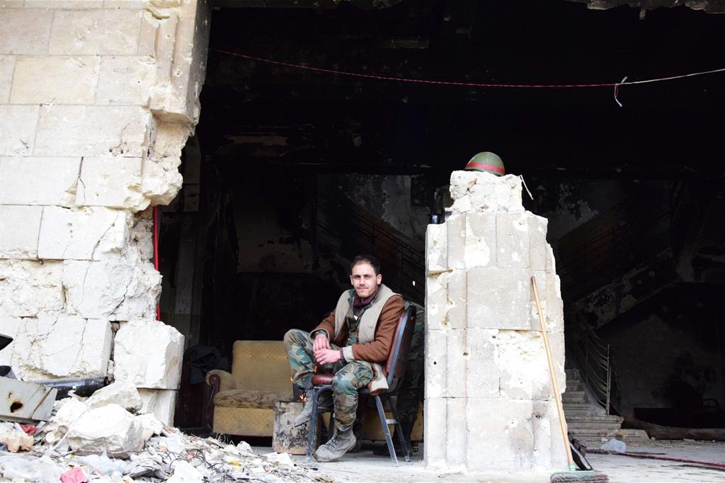 L'ex sede degli scout ad Aleppo Est. Resta ben poco -