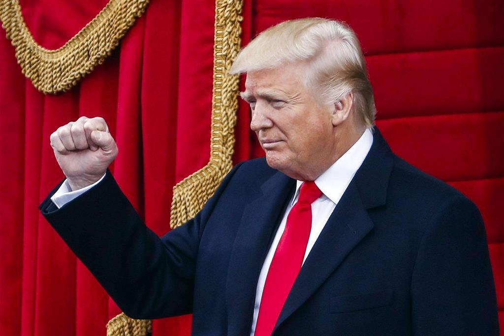 Donald Trump nel giorno dell'insediamento -