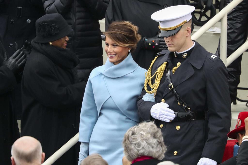 La first lady Melania Knauss, terza moglie di Donald Trump -