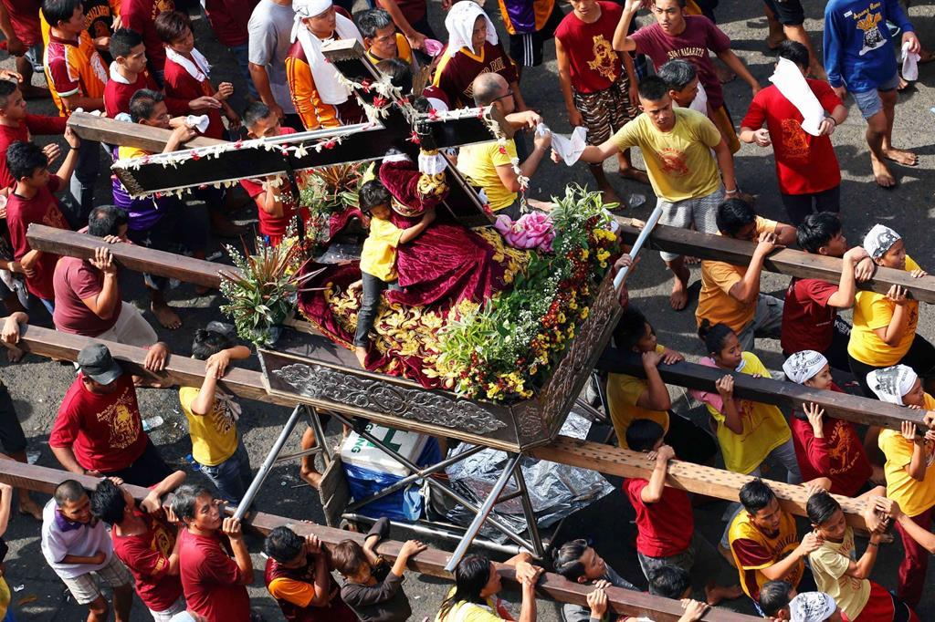 Le celebrazioni si tengono a Cagayan de Oro nelle Filippine in contemporanea con la capitale, Manila, il 9 gennaio, festa del Nazareno, e il venerdì Santo. -