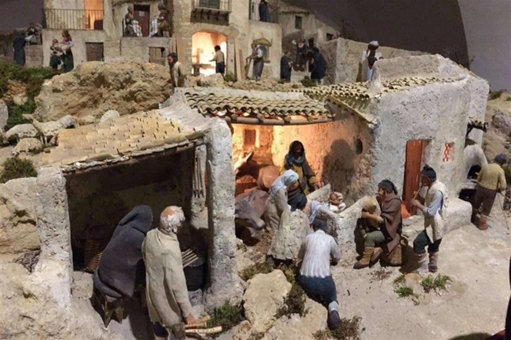 Presepe del maestro Roberto Vanadia, complesso Gioeni chiesa di San Giorgio  Agrigento -