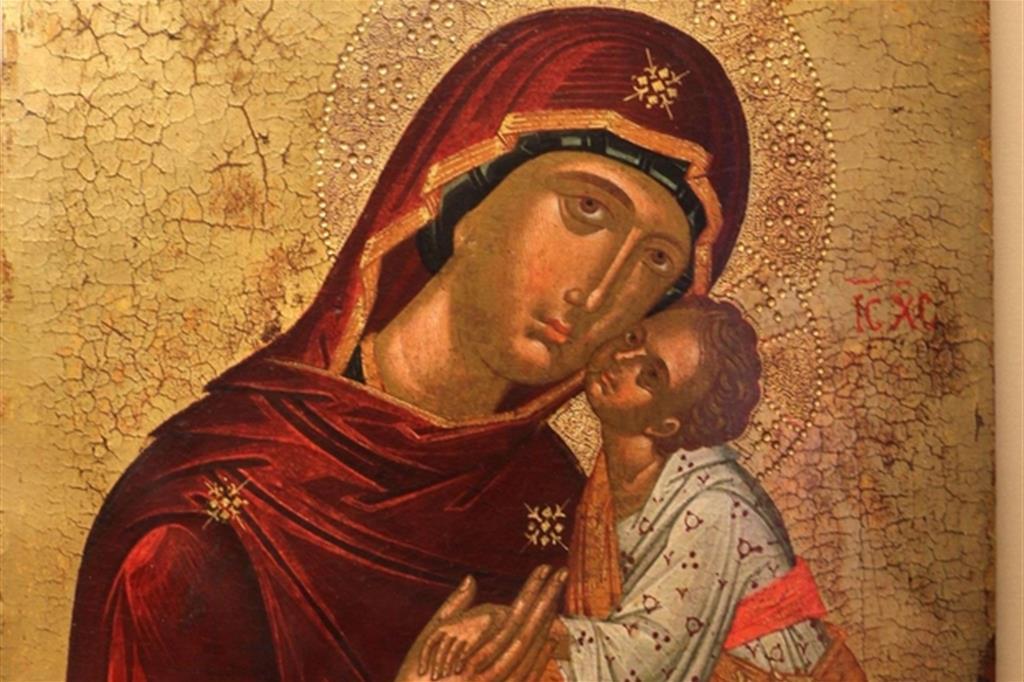La Madonna della tenerezza nell'opera di un pittore cretese