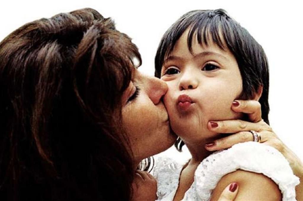 La piccola Maritè con la madre Veronica
