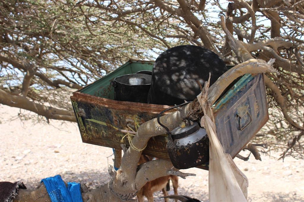 La cucina di una famiglia sfollata  (Oxfam - Omar Algunaid) -