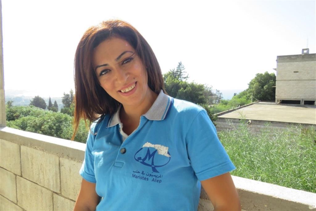 """Rouba, educatrice dei Maristi blu, mentre partecipa al corso """"Tutori di resilienza"""" (Le foto sono dell'associazione Francesco Realmonte)"""