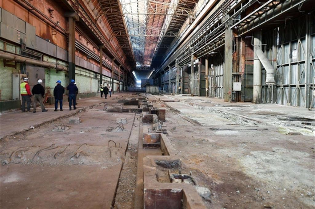 Lo stabilimento della Thyssenkrupp come appare oggi