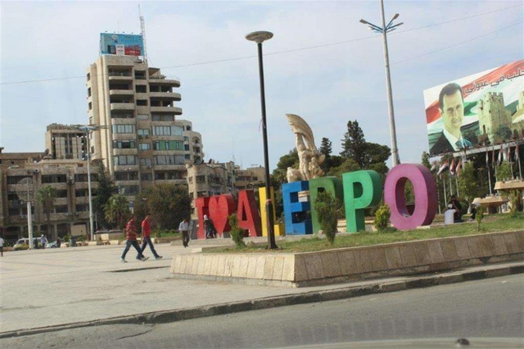 Il centro di Aleppo: 4 milioni di abitanti prima della guerra, ora sono un milione