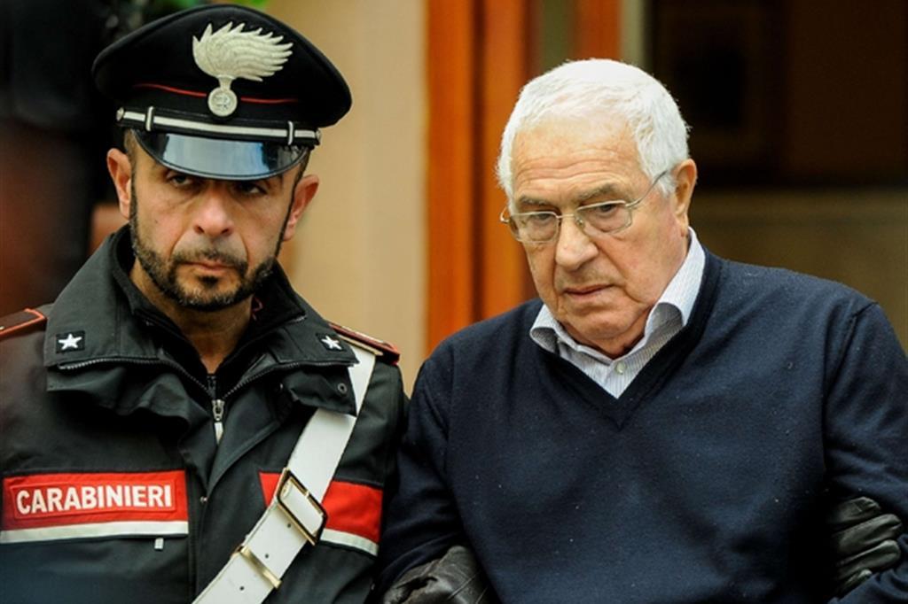 Settimo Mineo, 80 anni, al momento dell'arresto a Palermo