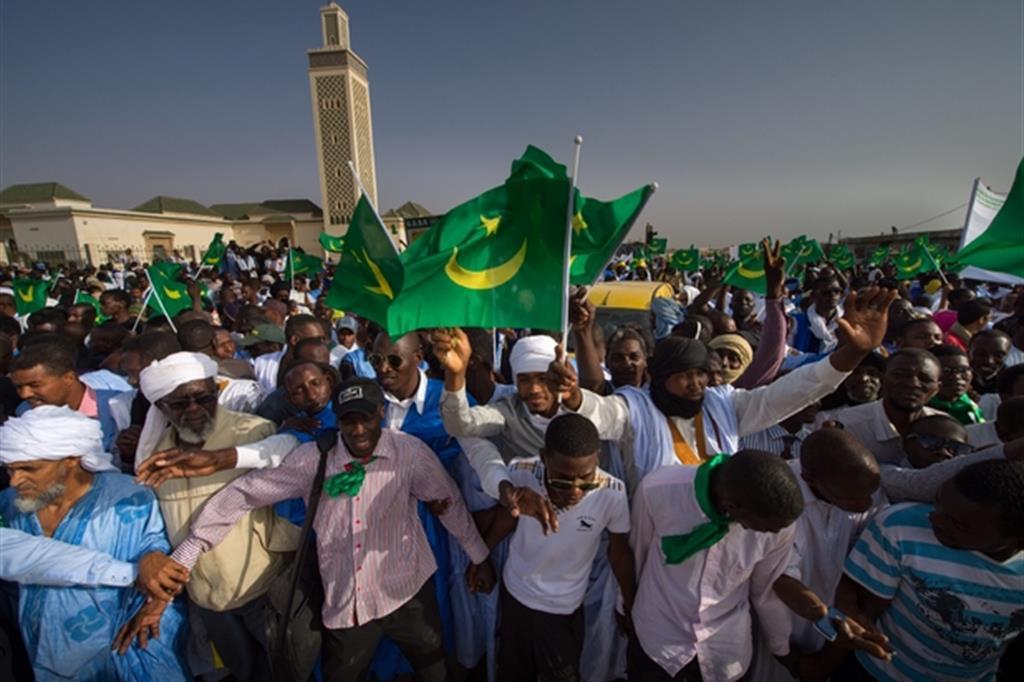 Manifestazione contro la schiavitù a Nouakchott