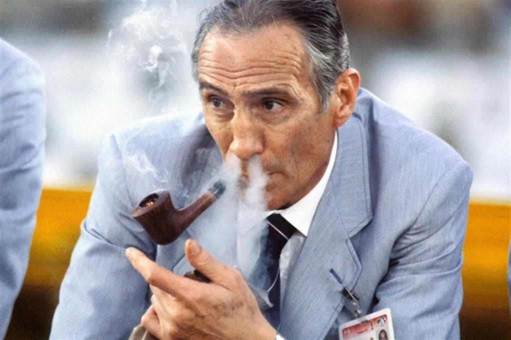 Il ct della Nazionale Enzo Bearzot (1927-2010)