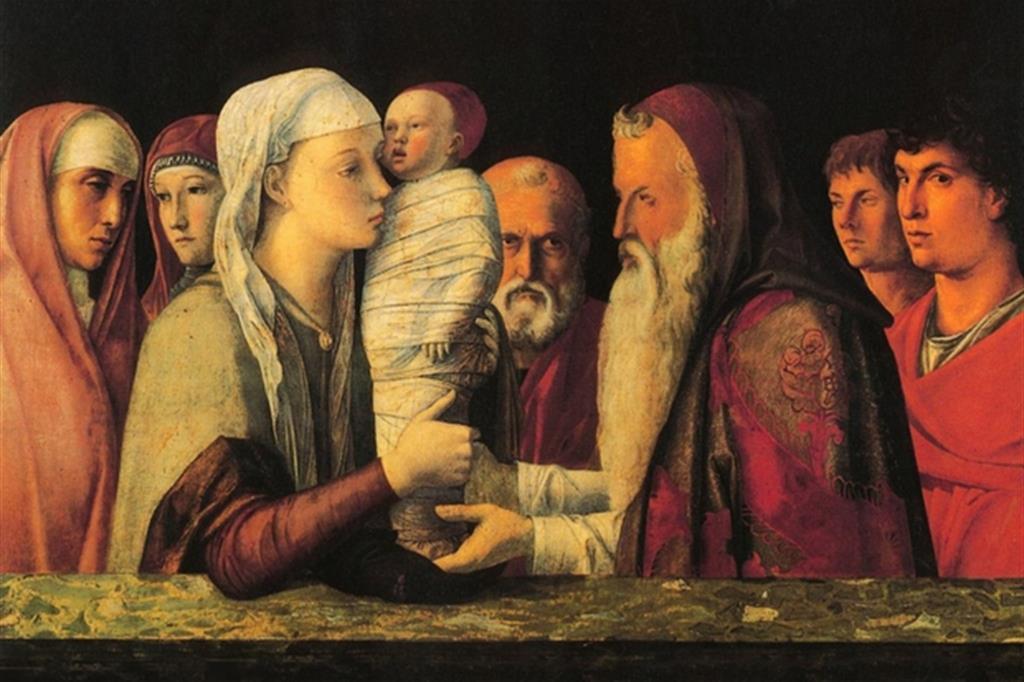 """Andrea Mantegna, """"Presentazione al tempio"""" (1455)"""