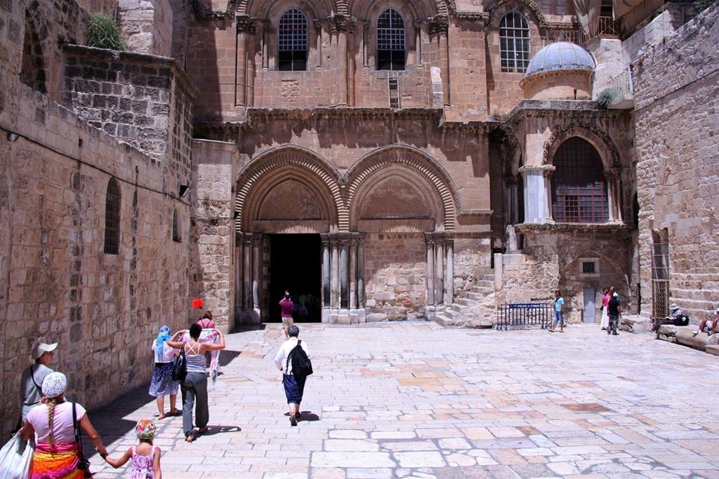 La Basilica del Santo Sepolcro a Gerusalemme (Foto dell'archivio Ansa / Francesco Gerace)