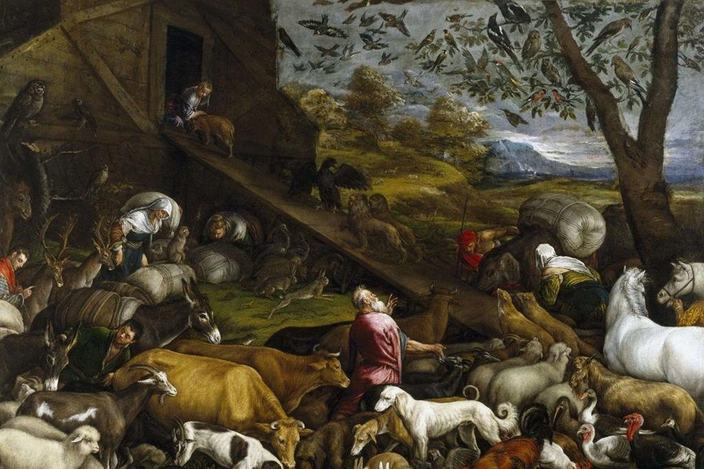 """""""Il sacrificio di Noè"""" (1574), dipinto di Jacopo da Bassano"""