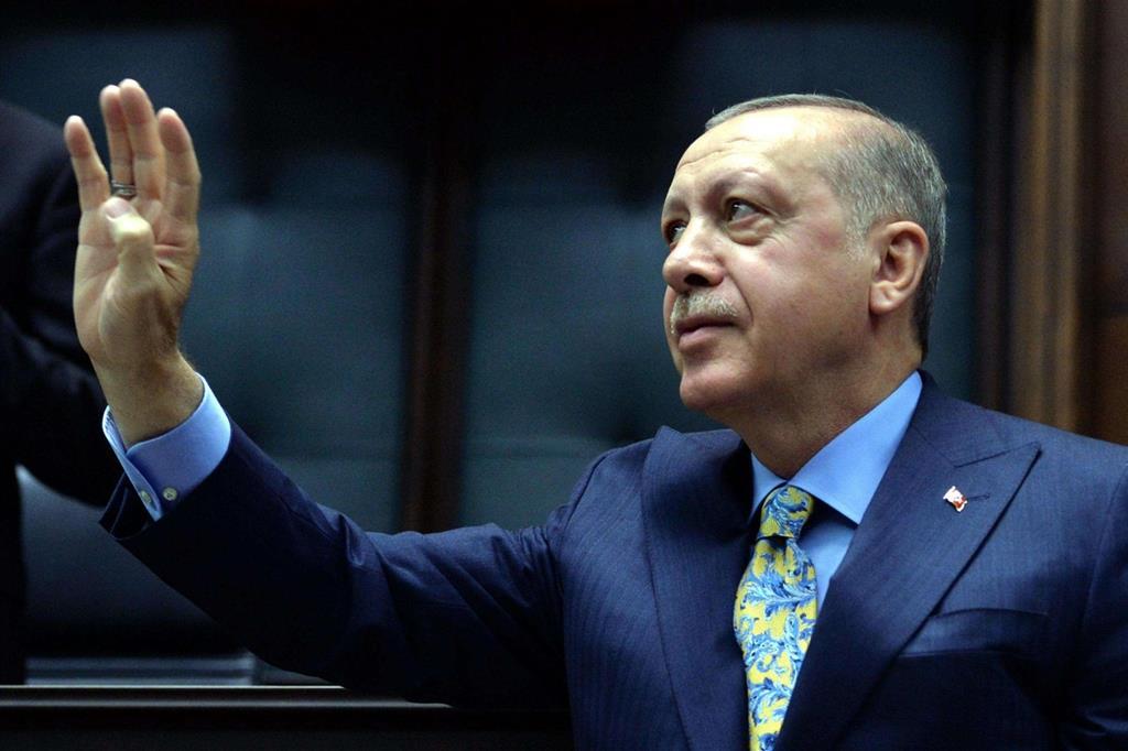 Il presidente turco Recep Tayyip Erdogan (Ansa)