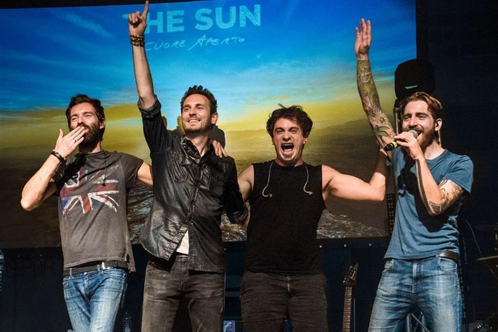 Il rock dei The Sun dal Papa per cantare la vita