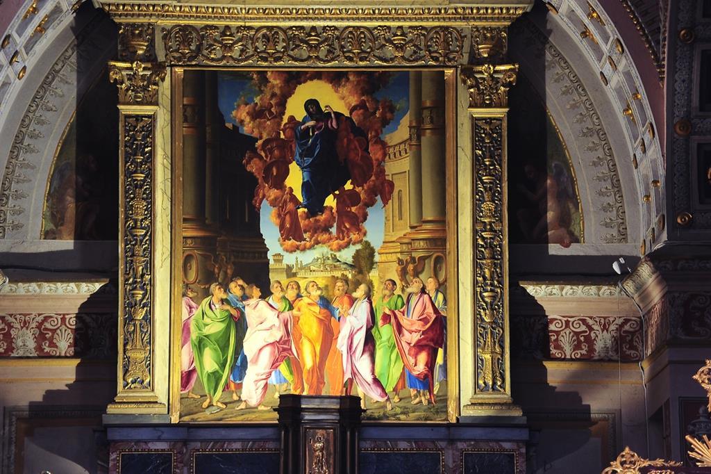 Benedetto Diana, l'Assunzione della Vergine, nel Basilica di Santa Maria della Croce a Crema (Foto Mariga)