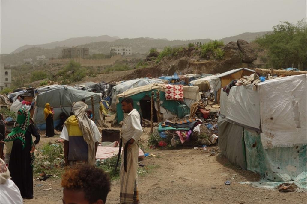 Sfollati a Taiz (Nigel Timmins/Oxfam) -