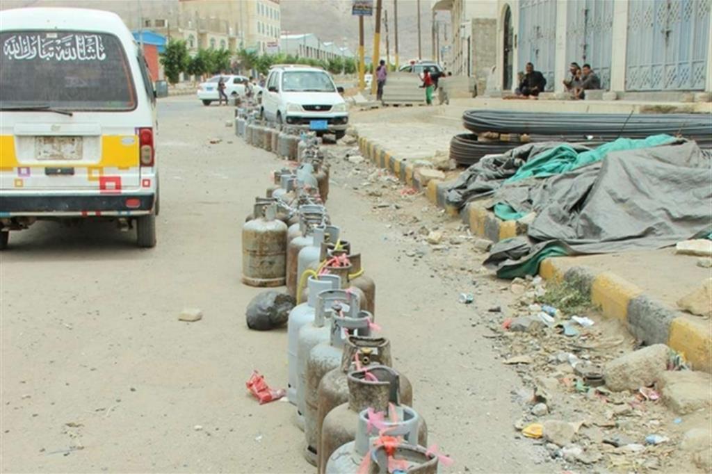 Bombole gas vuote (Hind Aleryani/Oxfam) -