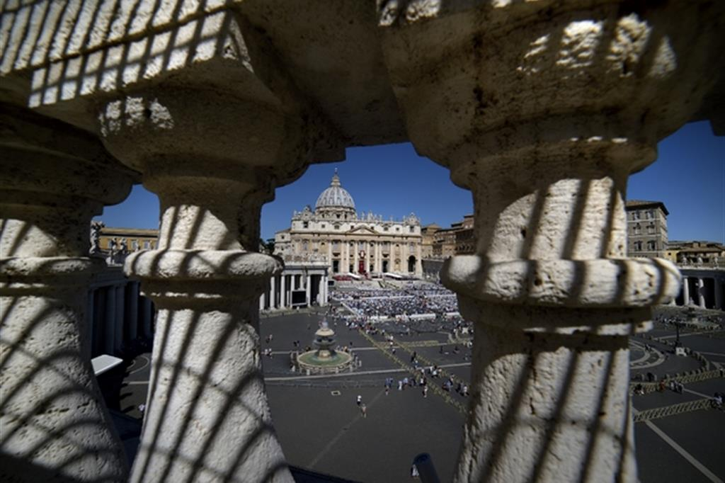 Una suggestiva immagine della Basilica di San Pietro