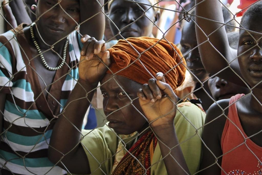 Donne sfollate in un campo profughi a Yei in Sud Sudan