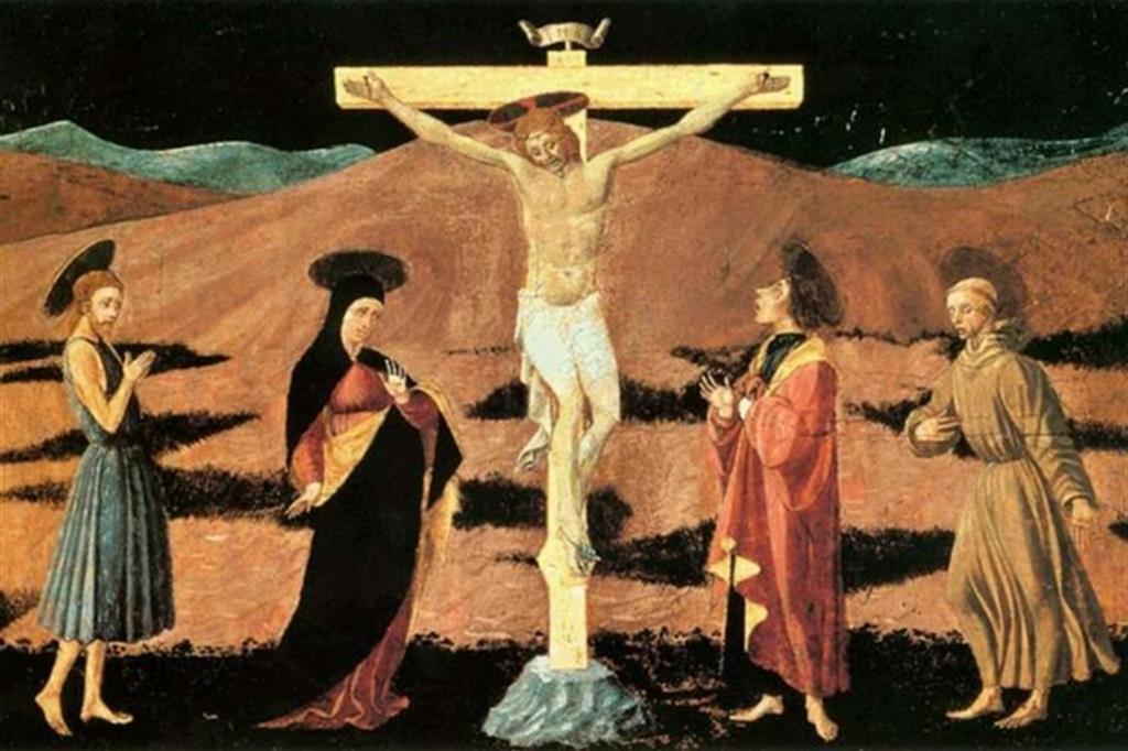 La Crocifissione è una dipinto a tempera su tavola di Paolo Uccello, conservato nel Museo Thyssen-Bornemisza a Madrid. La datazione è controversa, ma generalmente la si comprende tra il 1457 e il 1458.