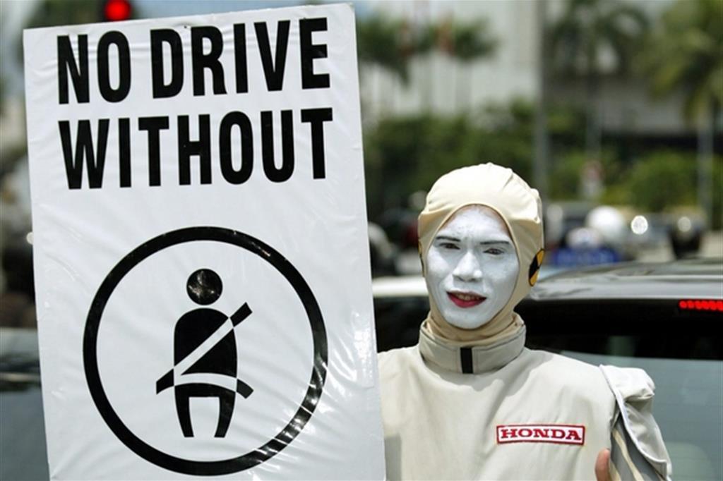 L'immagine di una campagna per la sicurezza stradale