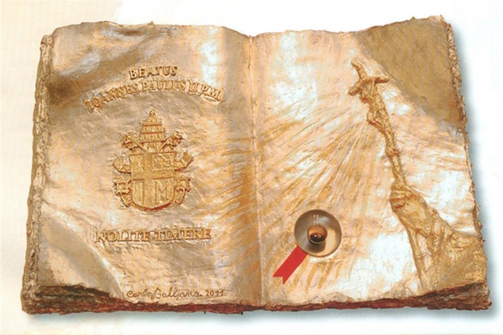 L'ampolla contenente il sangue di Sa Giovanni Paolo II