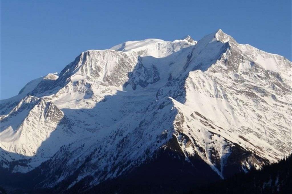 Il massiccio del Monte Bianco visto da Saint-Gervais-les-Bains
