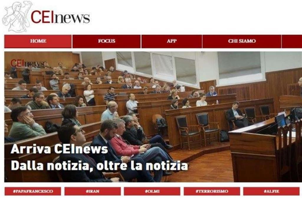 La home page del nuovo portale CEInews