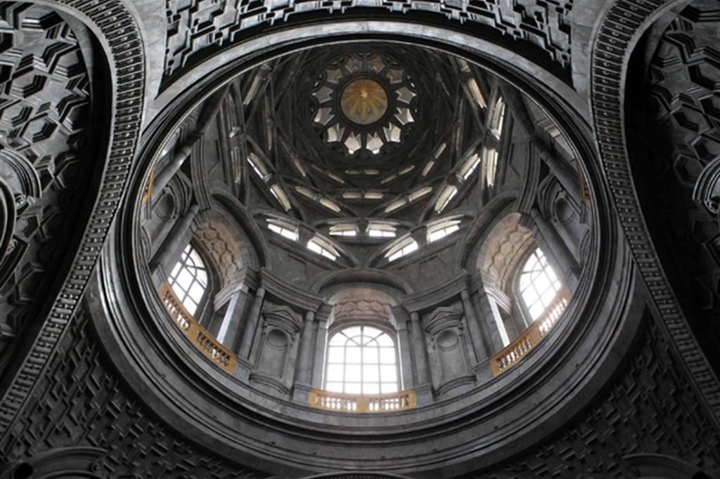 Veduta dal basso della cupola della Cappella (Ansa) -