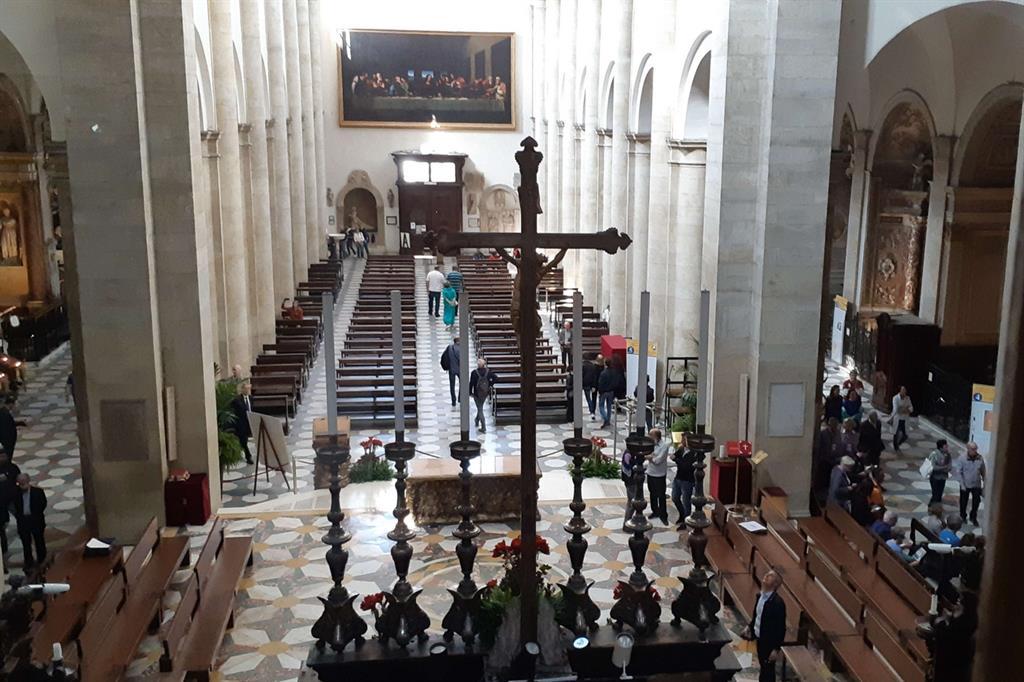 La navata del Duomo vista dall'alto della Cupola (R. Maccioni) -