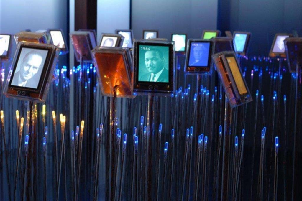 Il «Giardino dei Nobel» al Centro del Nobel per la pace di Oslo, in Norvegia (Pescali)