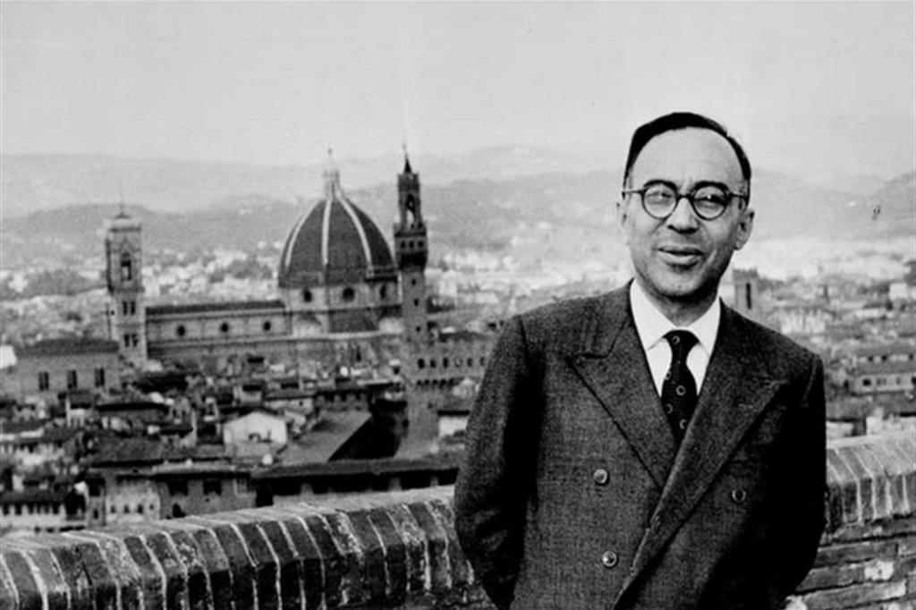Giorgio La Pira in una foto dell'archivio Ansa