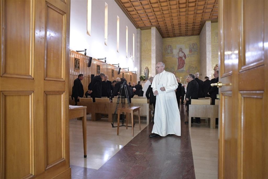 Il Papa e la Curia Romana ad Ariccia (L'Osservatore Romano)