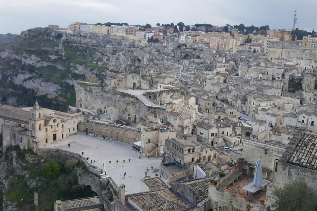 Una panoramica di Matera che lunedì ospiterà la Marcia per la pace 2018