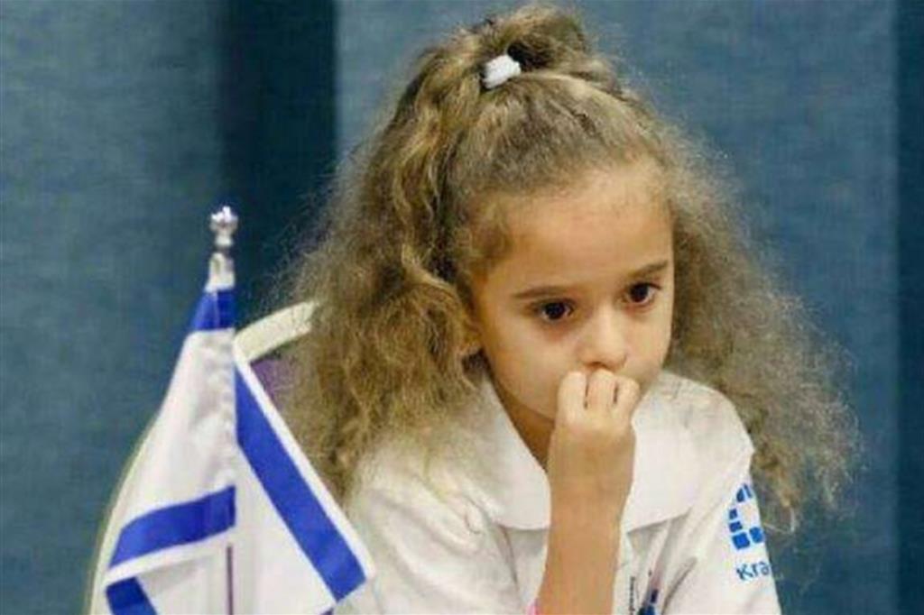 Liel Levitan ha 7 anni e vive con la famiglia ad Haifa in Israele