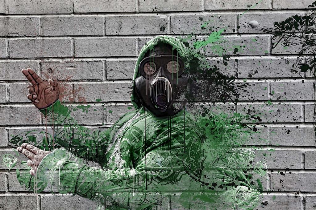 Un'opera di street art sull'inquinamento (Danielle Tunstall/CreativeCommons)