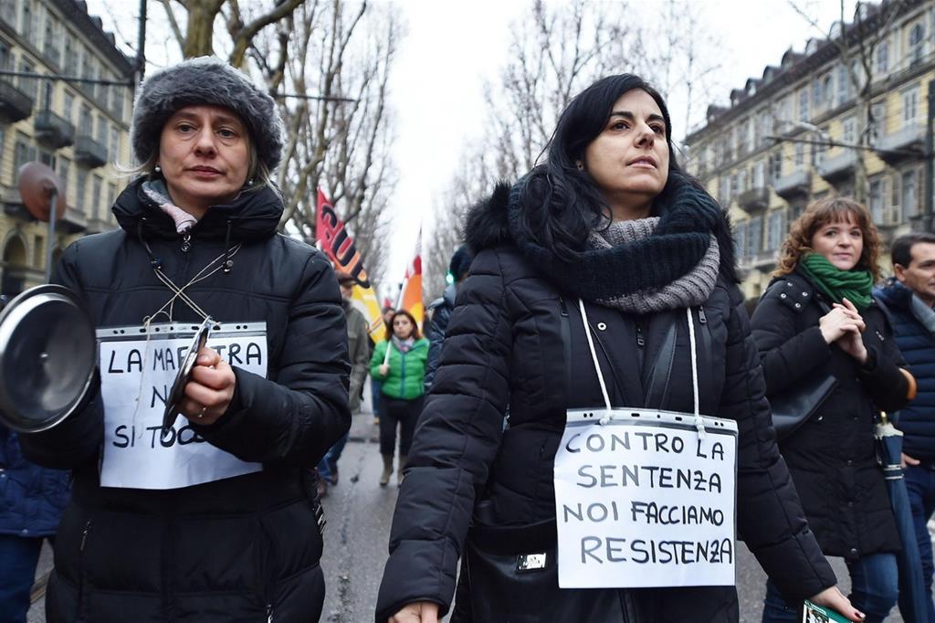 La protesta delle maestre contro la sentenza del Consiglio di Stato