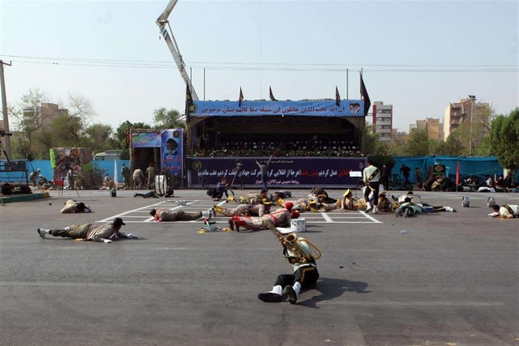 Il luogo dell'attacco alla parata militare ad ad Ahvaz, capoluogo della provincia sud-occidentale del Khuzestan (Ansa)