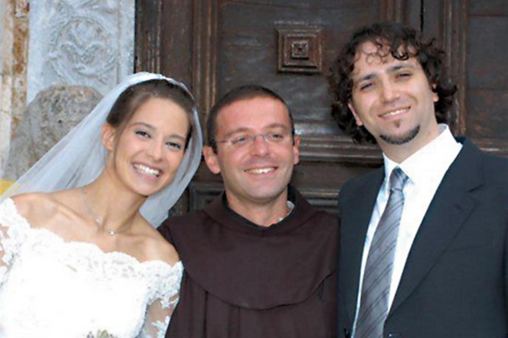 Chiara Corbella nel giorno del matrimonio con Enrico Petrillo il 21 settembre 2008