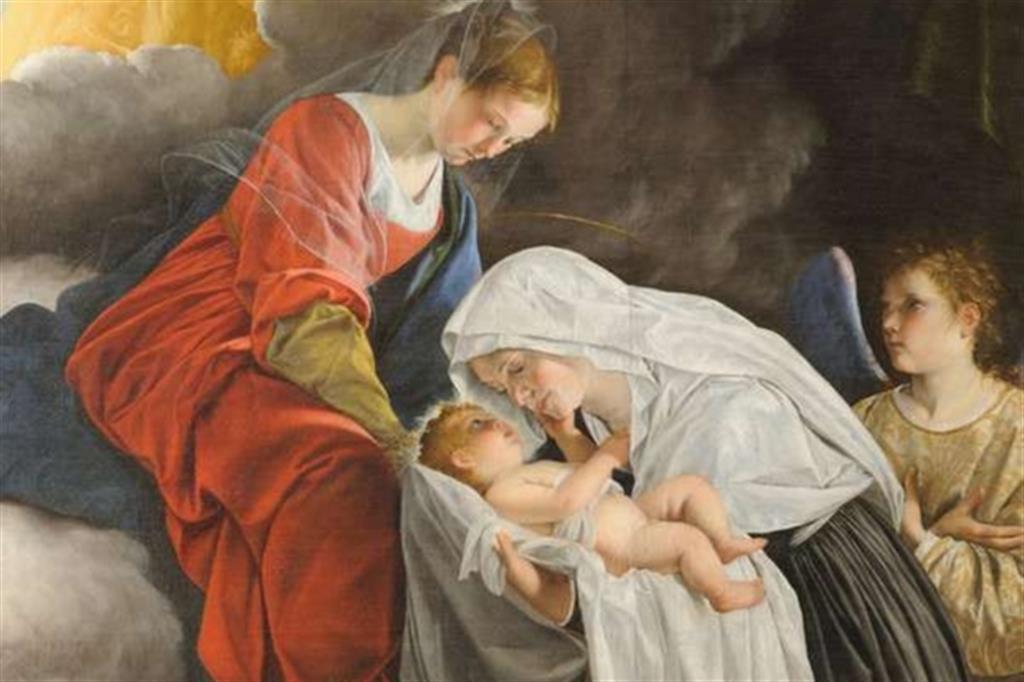 Orazio Gentileschi, «Visione di santa Francesca Romana» (particolare, 1619-'20)