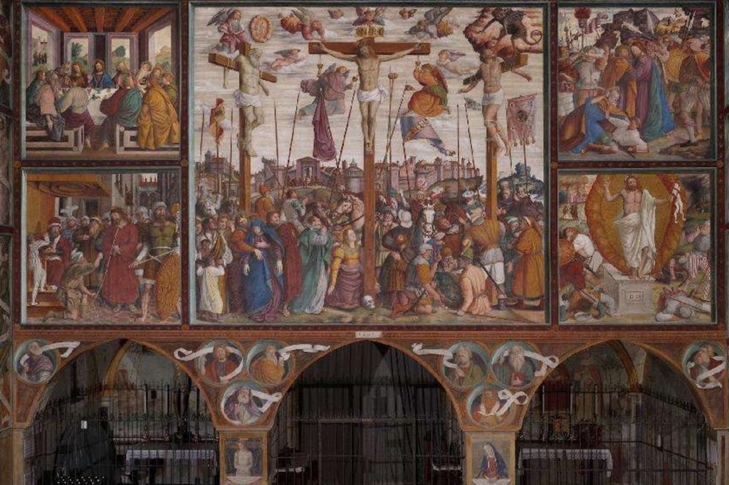 Il tramezzo della chiesa di San Bernardino a Caravaggio, dipinto da Fermo Stella nel 1531