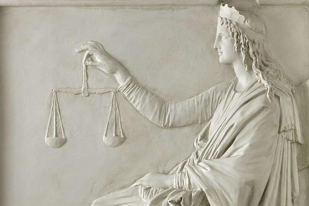 """Antonio Canova, """"Allegoria della Giustizia"""", particolare (Fondazione Cariplo / CC 3.0)"""