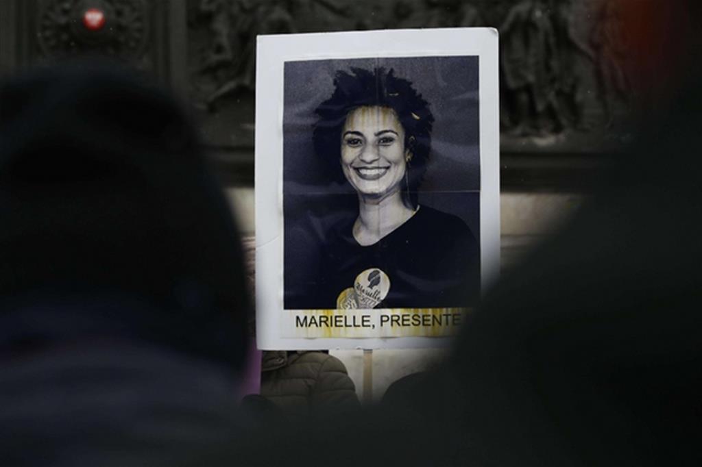 Un ritratto dell'attivista Marielle Franco (Ansa)