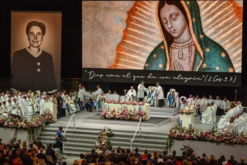 Un momento della beatificazione a Madrid, il 18 maggio 2019, di Guadalupe Ortiz de Landázuri