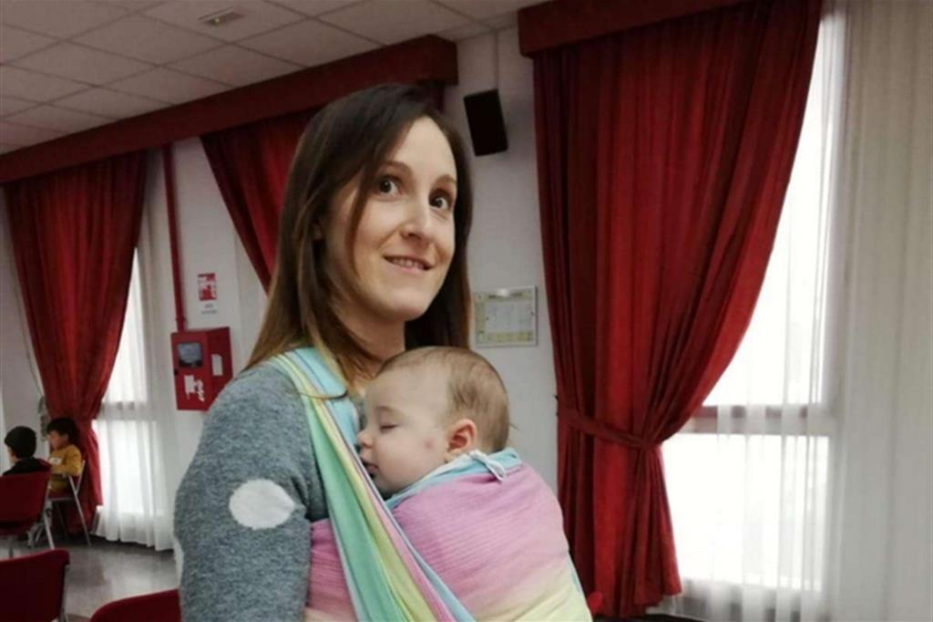 Anche un piccolo, con la sua mamma, al convegno del Movimento per la Vita e i Cav