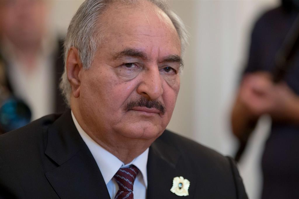 Il generale Khalifa Haftar (Ap)