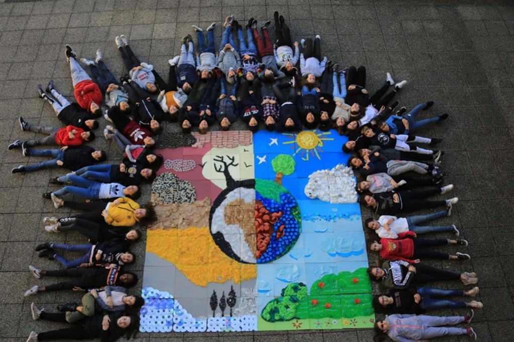 Uno dei lavori presentati dai ragazzi per il concorso di Popotus (tratto dal sito Internet della scuola)