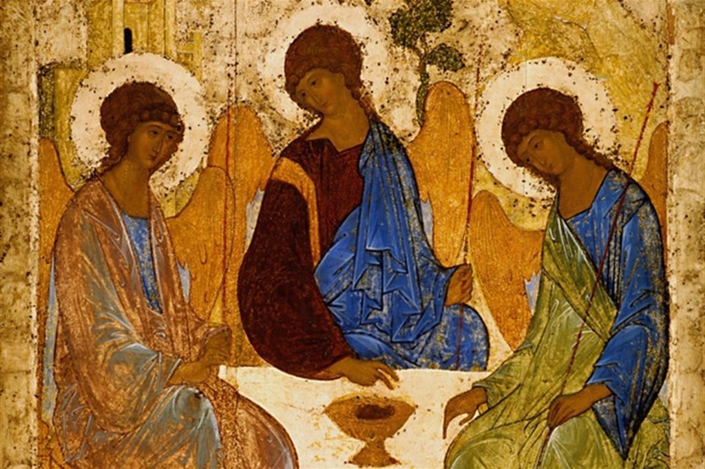 L'icona della Trinità di Andrej Rublëv (particolare)
